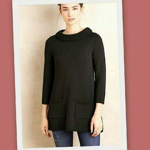 Anthropologie Rib-Trimmed Sweater Tunic